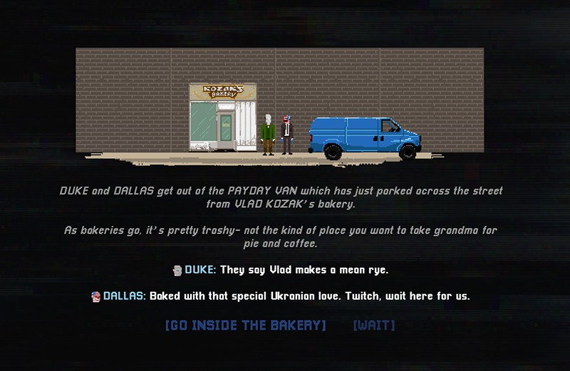 Play for free while it's online and get free DLC for Payday 2: The Text Adventure