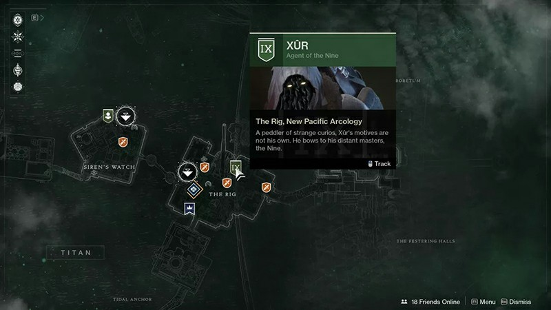 Destiny 2: Xur location and items, July 12-15