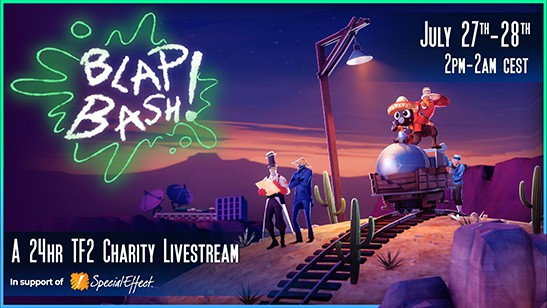 The Blapbash Charity Livestream: Team Fortress 2 Charity Event Begins This Weekend