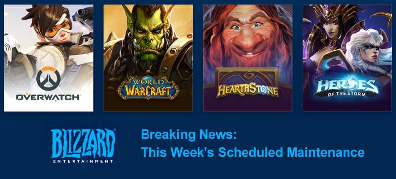 Blizzard Breaking News: This Week's Scheduled Maintenance