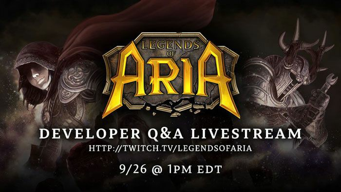 Legends of Aria Developer Start  Q&A On Thursday